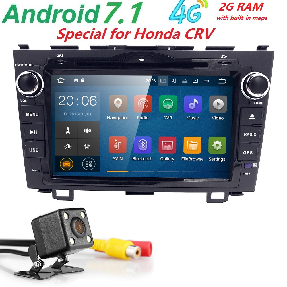 2 din Car Radio GPS Android 7.1 Car DVD Player For Honda CRV CR-V 2006 2007 2008 2009 2010 2011 multimedia Navigation Audio Wifi