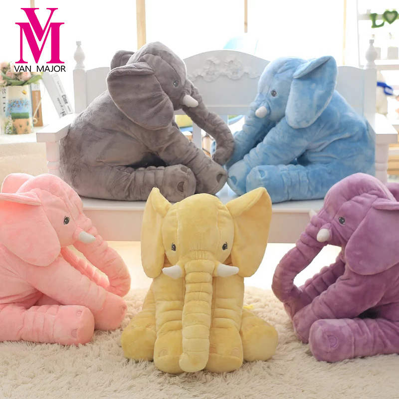 Free Shipping Plush Elephant Stuffed Animal font b Toys b font Plush Pillow Baby Gifts for