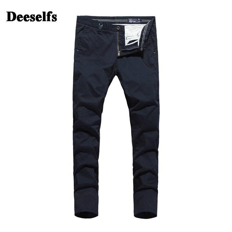 High Grade Italy Khaki Dark Blue Jeans Men Casual Pants DE Brand Clothing Mid Stripe Slim Fit Men`s Pockets Jeans Uomo S363 men s cowboy jeans fashion blue jeans pant men plus sizes regular slim fit denim jean pants male high quality brand jeans