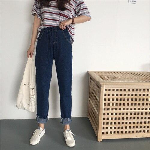 2018 New Arrival Octeyam Full Length Elastic Waist Low Coated Regular Cargo Pants Streetwear
