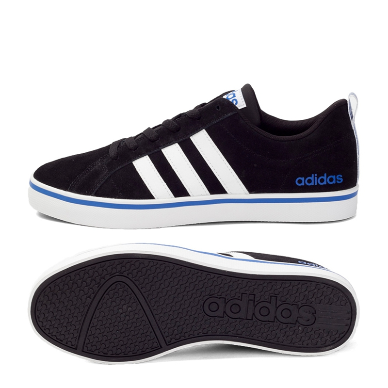 adidas black leather padded 'neo' trainers