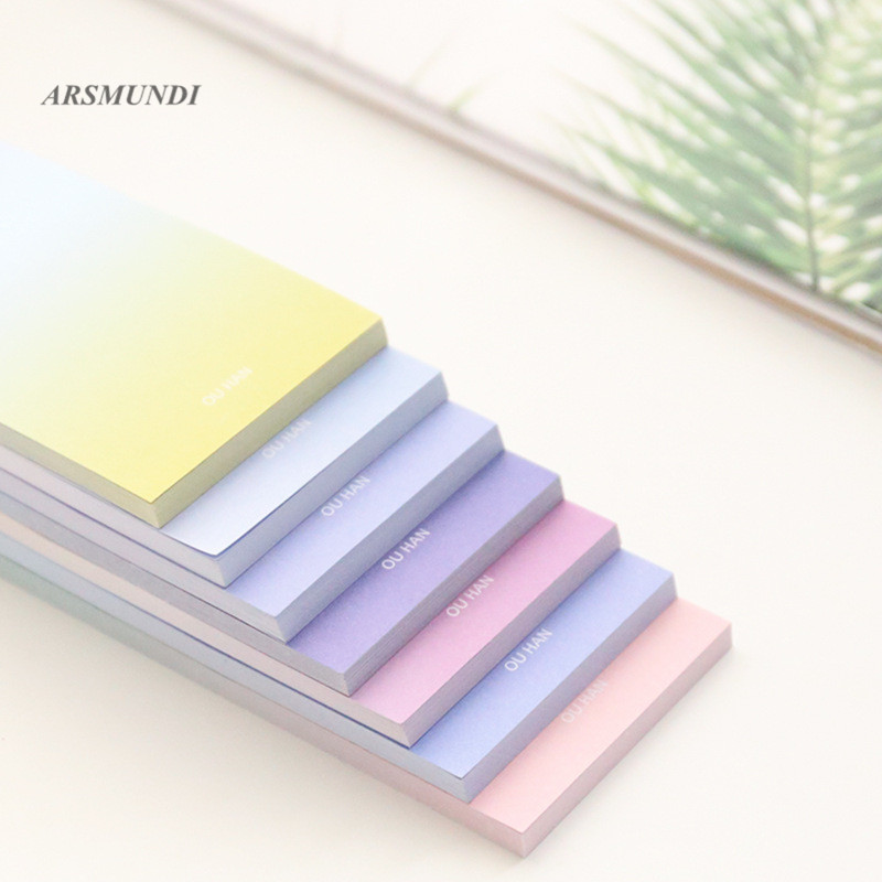 Novelty Gradient Color Self-Adhesive Sticky Notes Long Paragraph Post It School Office Supplies Stationery 1000 label self adhesive sticky a4 sheets address labels inkjet laser copier printer ebay amazon sticky address post pack paper