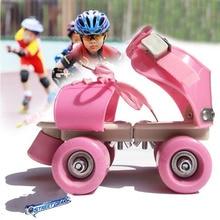Регулируемый размер детские роликовые коньки двухрядные 4 колеса обувь для катания на коньках раздвижные Инлайн ролики для слалома детские подарки Роликовые кроссовки