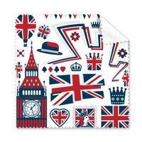 5 Pcs Tower Ballon Soldier UK England Landmark Flag Mark Illustration Pattern Glasses Cloth Cleaning Cloth