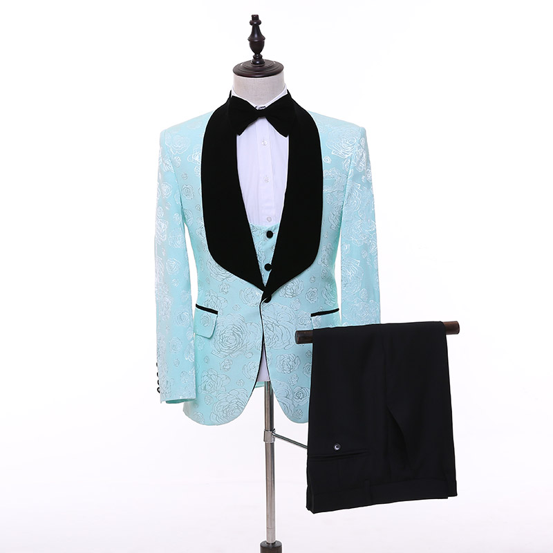 Aliexpress.com : Buy New Style Light blue Design Shawl Lapel Groom ...