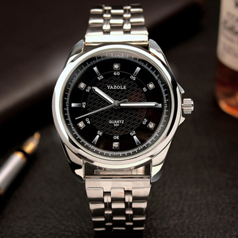 2018 Yazole Men Wrist Watch Top Brand Luxury Famous Steel Belt Male Clock Quartz Watch Business Quartz-watch Relogio Masculino yazole new watch men top brand luxury famous male clock wrist watches waterproof small seconds quartz watch relogio masculino