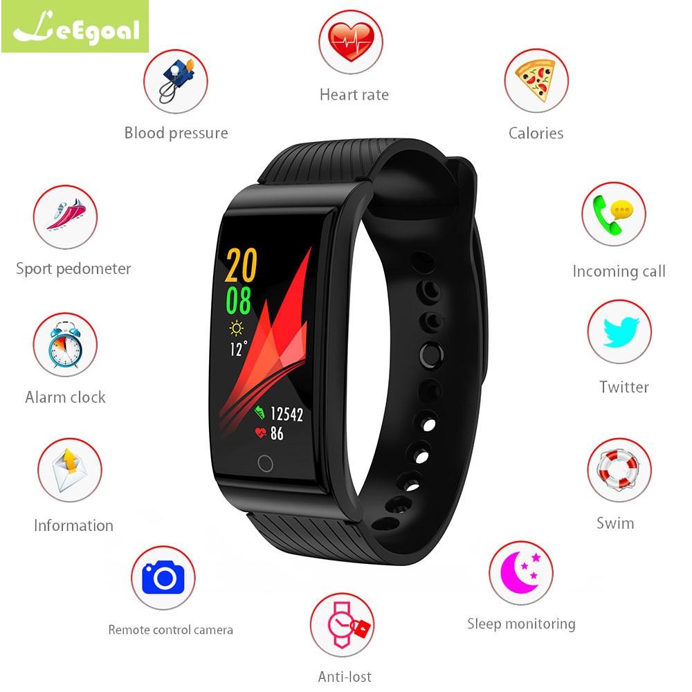 Bande à puce F4 Smart bracelet Coeur taux tracker Sang pression Remise En Forme de l'oxygène bracelet IP68 Étanche montre Smart watch