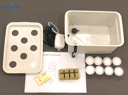 8 Holes Plant Site Hydroponic System Indoor Garden Cabinet Box Grow Kit Bubble Garden Pots Planter Nursery Pot