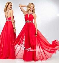 Вечернее платье 2018 Новая мода Sexy спинки вечерние платье на выпускной; Vestido De Festa Novia Лонго Кристалл Мамам молодожёнов
