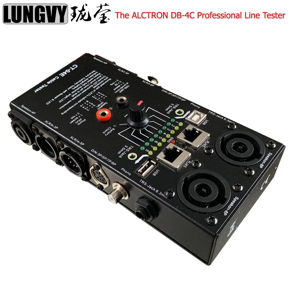 Бесплатная доставка Высокое качество ALCTRON DB 4C профессиональный тестер линии для всех типов аудио кабелей