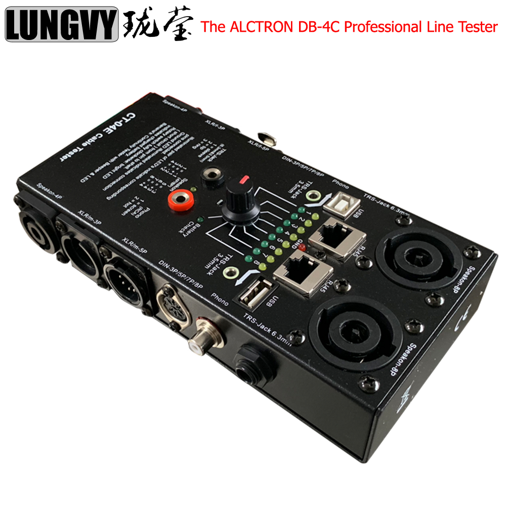 Free Shipping High Quality The ALCTRON DB-4C Professional Line Tester For All Types Of Audio Cables
