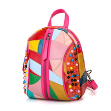 Fashion backpack Black Preppy Style School Backpacks Funny Quality Pu Leather Fashion Women Shoulder Bag Travel Back Pack Sac