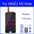 Original LCD For MEIZU M2 Note Display Screen Digitizer Touch Screen Meiblue Note2 Glass Panel 5.5 Inch Replacement FreeTools