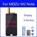 Tela lcd original para meizu m2 note meiblue note2 tela de toque digitador substituição do painel de vidro de 5.5 polegada freetools