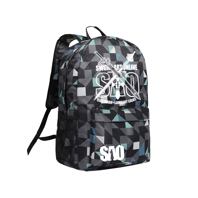 Backpack Sword Art Online Shoulder Bag Mochila Teenagers School Bag SAO Anime Bags dropship harajuku anime sword art online sao canvas galaxy luminous printing backpack school bags for teenagers mochila feminina