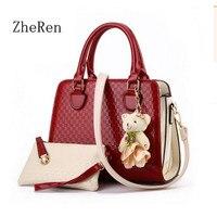Fashion Pu Leather Patent Le Women Shoulder Bag Women Bag Messenger Bolsos Elegant Alligator Pattern Bag