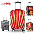 Creative Printed Elastic Polyester Travel Luggage Cover for 19-32inch suitcase Protective Cover Travel Trunk Dirt-Proof