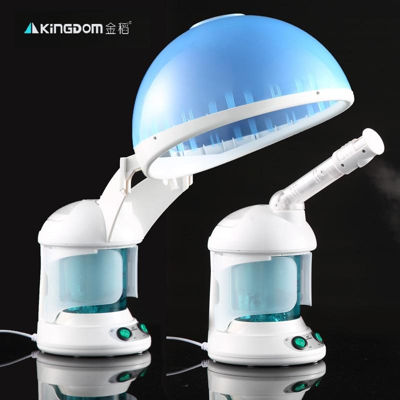 2 en 1 sauna vaporisateur Salon cheveux vapeur et ozone vapeur Facial à base de plantes Aromatiques Brume salon du visage à vapeur dispositif