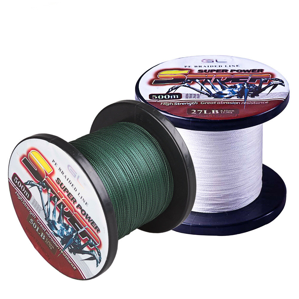 500m PE Braided Fishing Line 12-80LB Super Power Multifilament Carp Fishing Linha De Multifilamento Para Pesca Tresse Peche