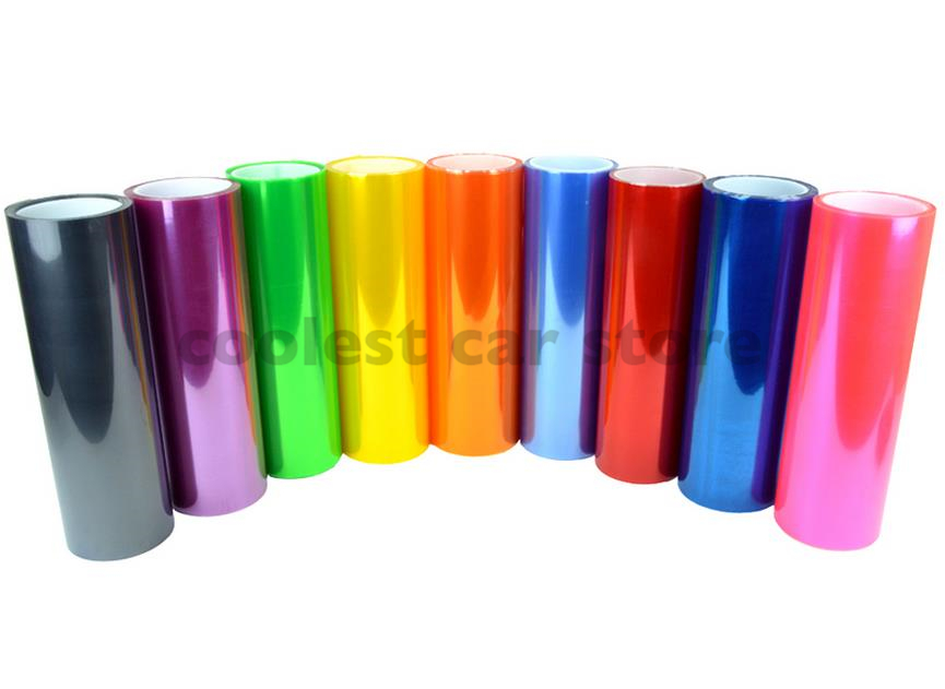 11 Color 120cm 30cm Shiny Auto Car Styling headlights Taillights film lights Dazzle colour Car film