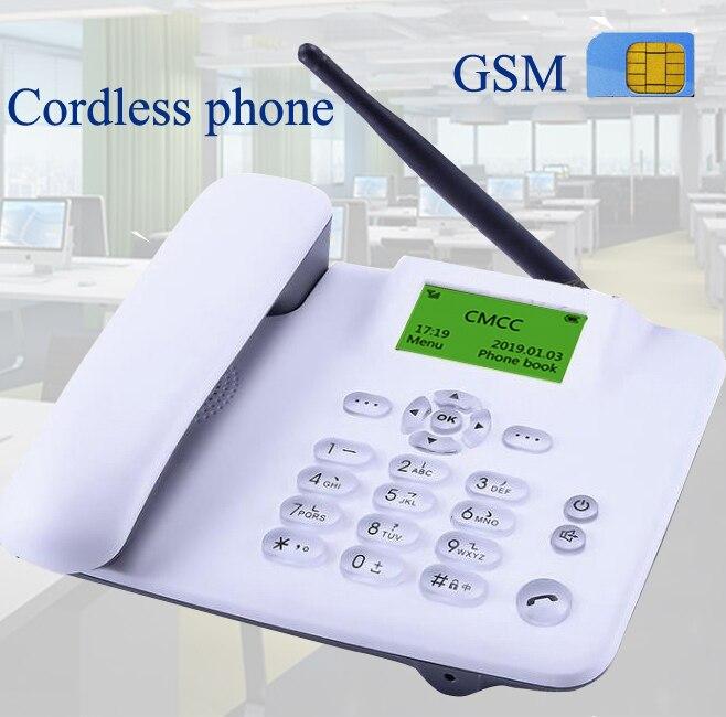Sem fio gsm 900 1800 mhz apoio sim cartão fixo telefone branco preto fixo telefone fixo sem fio casa escritório empresa