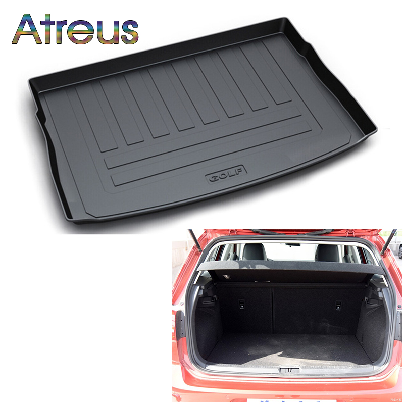Atreus For VW Golf 7 6 Bora Volkswagen Tiguan 1 Touran MK2 Accessories Car Rear Boot Liner Trunk Cargo Mat Tray Floor Carpet Pad fit for volkswagen vw tiguan rear trunk scuff plate stainless steel 2010 2011 2012 2013 tiguan car styling auto accessories