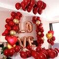 Воздушный шар, 18 дюймов, металлик, красное сердце, рубин, агат, красный воздушный шар для свадьбы, Дня Святого Валентина, декорирование даты, ...