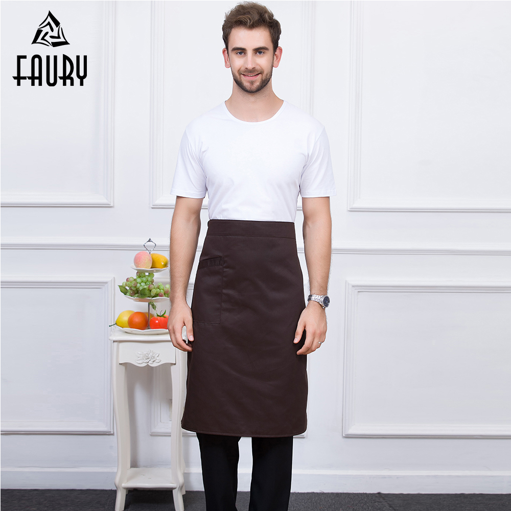 High Quality Multicolor Unisex Kitchen Coffee Shop Bakery Chef Waiter Cooking Work Wear Food Service Aprons With One Pocket