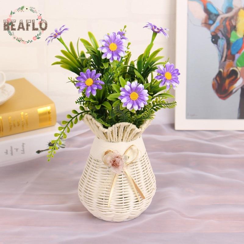 aliexpress: acheter 1 tas en plastique artificielle fleurs