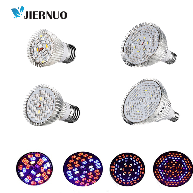 Plant LED Grow Light  Full Spectrum 18W 30W 50W 80W E27 Grow LED Lamp For Hydroponics Indoors Vegetable/Flower Grow Tent Light