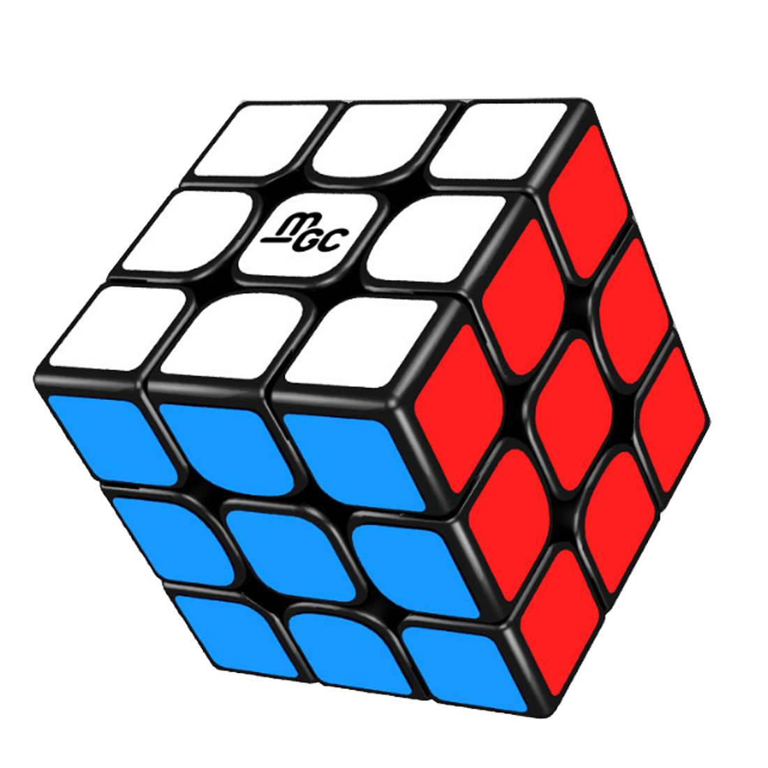 Surwish New YJ 3X3X3 Magnetic Version MGC Magic Cube Speed Cube for Brain Training - Black 8061 3x3x3 brain teaser magic iq cube multicolored 6 pcs