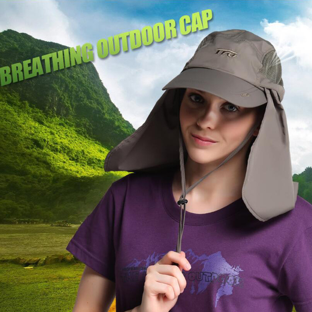 8b4b09f4c478f TFO Outdoor Hats caps Men Women Fishing Caps Fisherman Sunscreen Breathable  Quick Dry Beach Anti-mosquito Sport profession brand