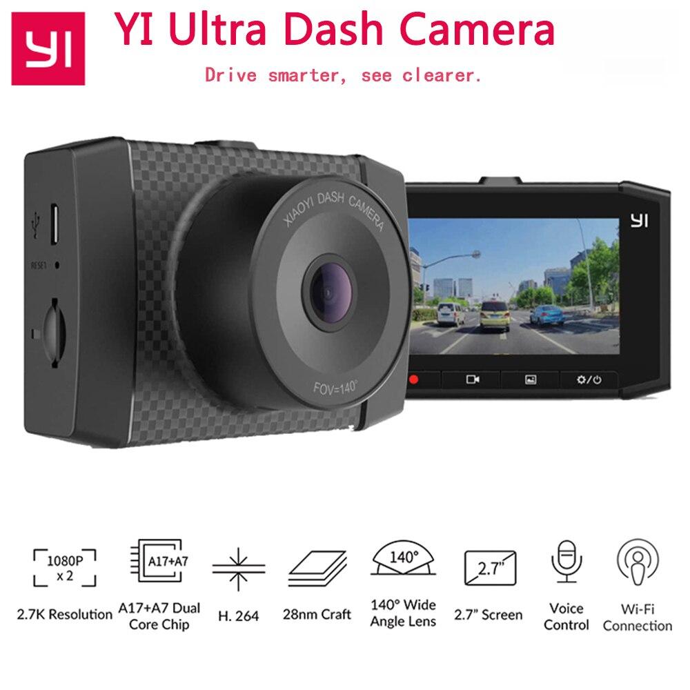 YI Ultra Dash Camera Car Camera 2 7 LCD Screen 2 7K WiFi Voice Control Nigh