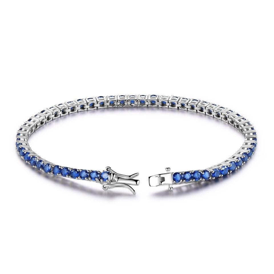 925 sterling silver sapphire bracelet for women (2)