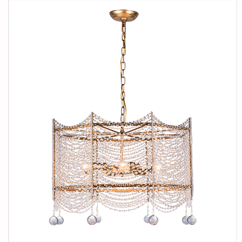 Mini Crystal Beaded Gold Chandelier Light Fixtures Retro Small Fitting For Dining Room Hallway Passage Balcony In Chandeliers From Lights