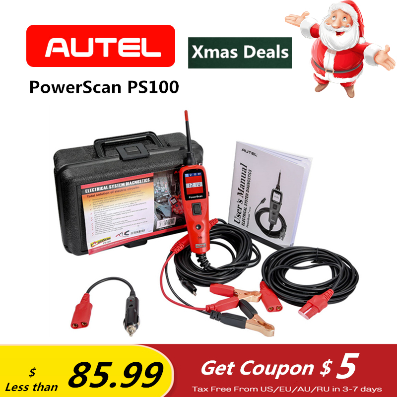 AUTEL PowerScan PS100 Système Électrique Outil de Diagnostic Automobile OBD2 Scanner Circuit Testeur Électrique Système Lecteur de Code