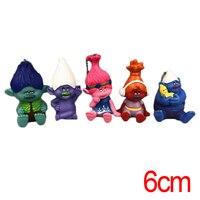 C & F Trolls Action Figure Jouets 5 PCS Pavot Branche Cuisinier Bridget Coloré Mini PVC Modèle de Collection Chiffres Jouets pour Cadeaux