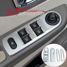 Для Renault Captur Samsung QM3 2013 2014 2015 стайлинга автомобилей матовый интерьера окна кнопку лифта Рамка Обложка Накладка 4 шт.