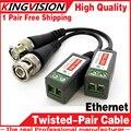 1 pçs/lote Passiva torcida-par transmissor 300 metros anti-interferência transmissor de vídeo BNC conector do cabo de vídeo monitoramento