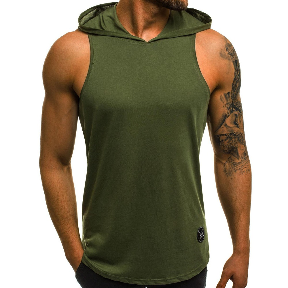 2018 New Products Fitness Men Bodybuilding Cotton Sleeveless