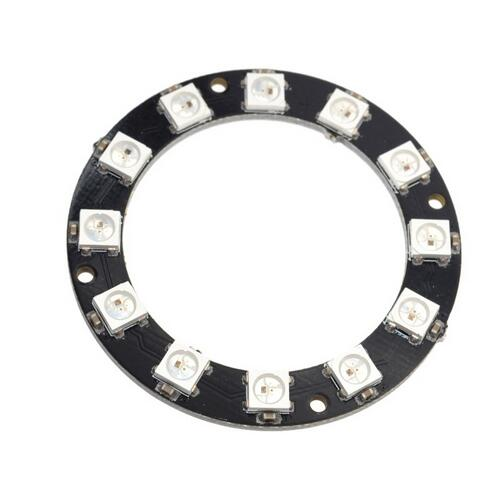 12 Bit WS2812 5050 RGB LED Intelligent Full-color RGB Ring Development Board Large Ring