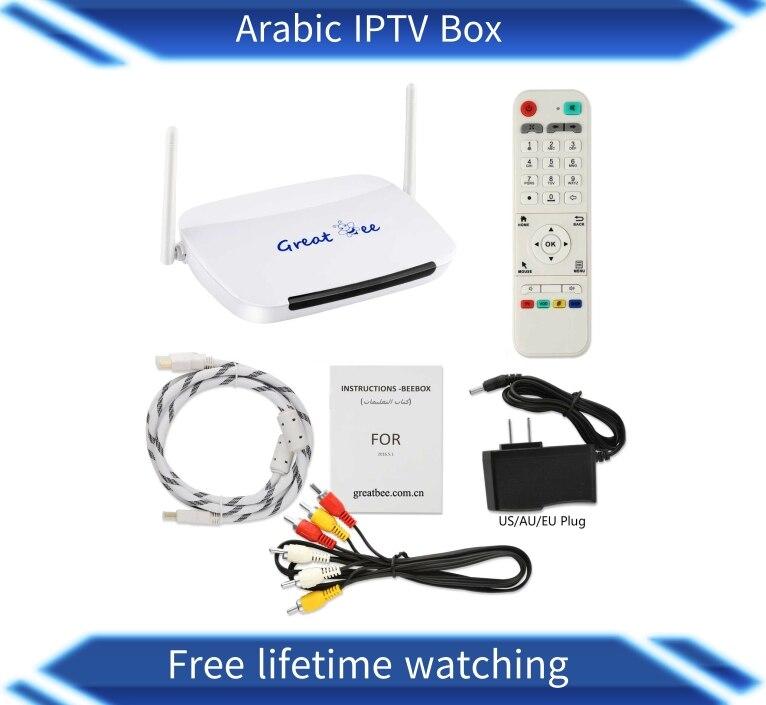 Hot Selling great ee arabic iptv box Android 4 2 WiFi built arabic iptv box free
