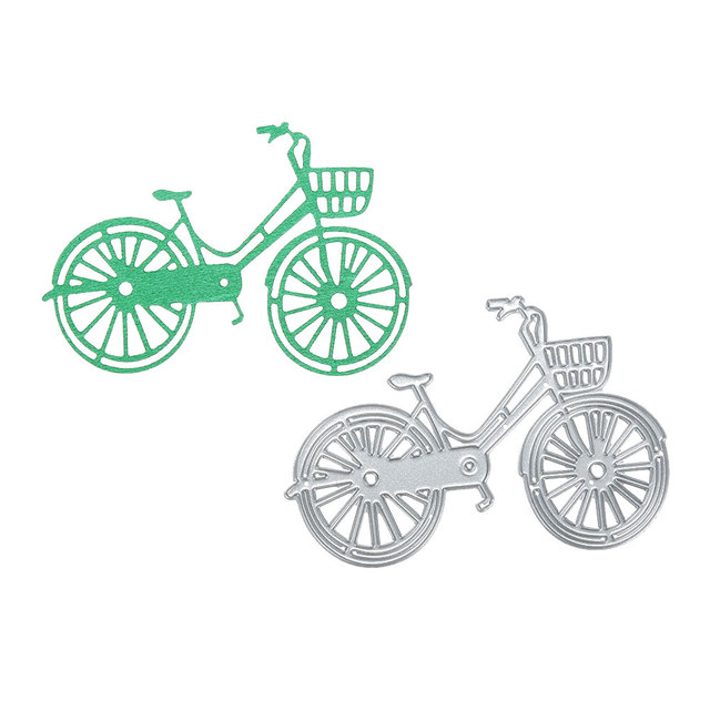 Bicycle Decor Carbon Steel DIY Stencil Paper Craft Cutting Die Embossing Card Scrapbooking Photo Stamp Album Cards Cut Dies Gift