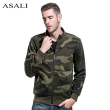 ASALI Camouflage Jacket Men New Brand Camo Mens Bomber Jackets Hip Hop Mens Jackets and Coats Pilot Windbreaker Man Russia Size(China)
