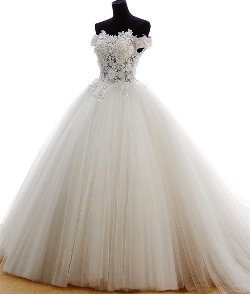 Buy 2016 real samples off the shoulder for Princess style wedding dresses sweetheart neckline