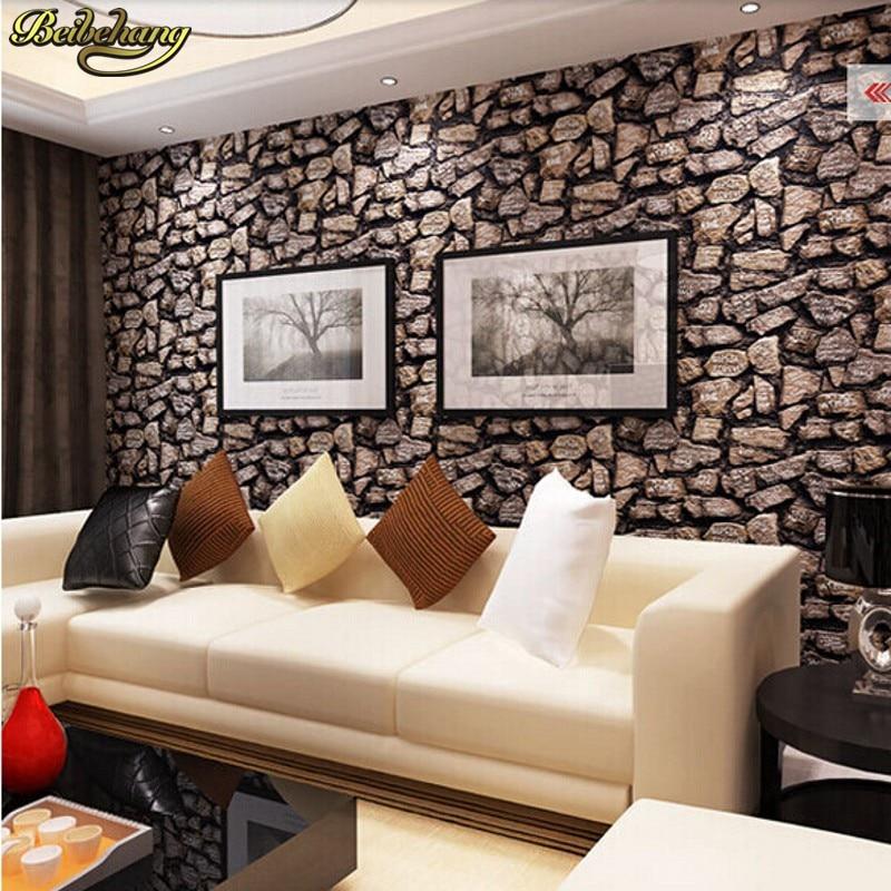beibehang wallpaper modern pattern simulation stone restaurant TV backdrop wallpaper direct ...