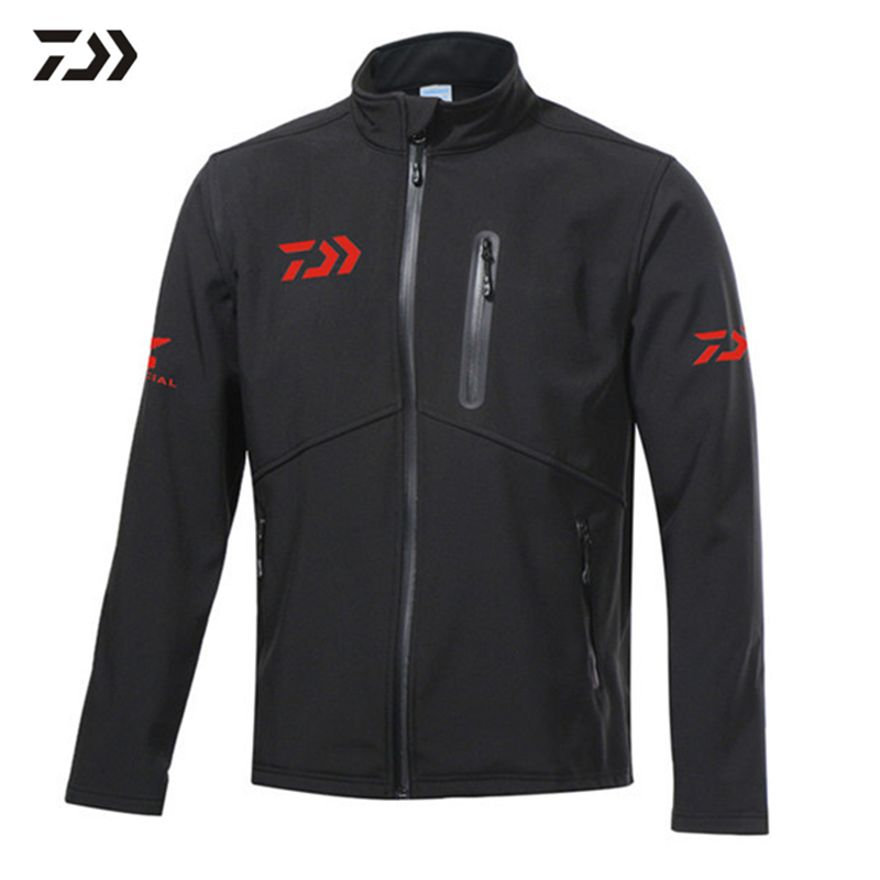 Daiwa Winter Fleece Warm Fishing Jacket Suit Windproof Fishing Clothing Long Sleeve Waterproof Fishing Clothes mens winter sea fishing clothes one piece suit floating life saving fishing clothing ykk zipper lifesaving whistle fly fishing