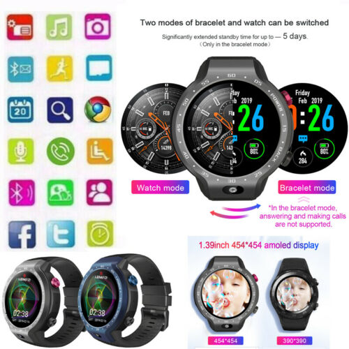LEM9 Dual System 4G Smart Watch Phone Android 7.1.1 1.39 inch Display 5MP Camera 600Mah Battery sports Smartwatch