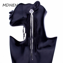 Korean character super fairy fashion tassel earrings jewelry feather temperament long sexy sweet earring female A-0366