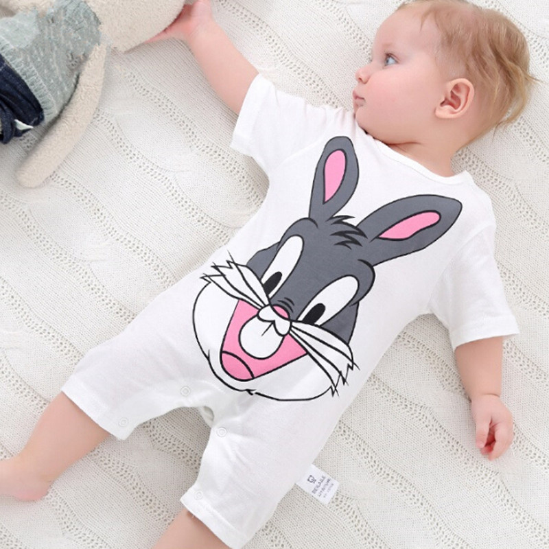 summer 2018 baby bodysuits 0-24M short sleeve body babies newborn baby girl boy clothing cotton infant jumpsuit cartoon costume 2018 summer style baby rompers newborn baby boy girl clothes infant clothing blue and red short sleeve cartoon printing jumpsuit